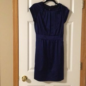 The Limited royal blue satin pleated dress, size 2